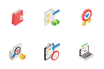 Cyber Buying, Commerce And Shipping Icon Pack