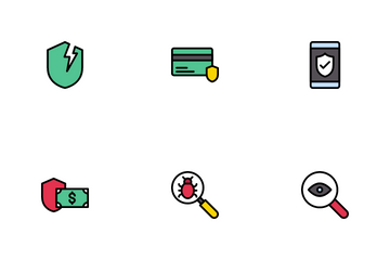 Cyber Crime And Protection Icon Pack