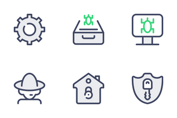 Cyber Security - Filled Outline Icon Pack