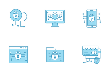 Cyber Security & Network Protection Icon Pack