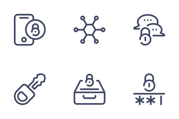 Cyber Security - Outline Icon Pack