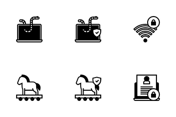 Cyber Security & Virus Icon Pack