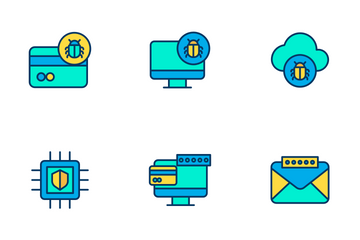 Cyber Security Vol 1 - Lineal Color Icon Pack