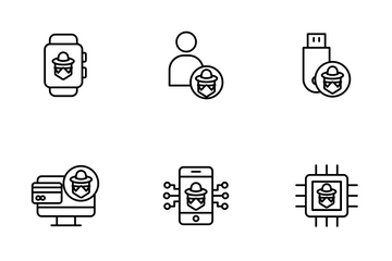 Cyber Security Vol 1 - Outline Icon Pack