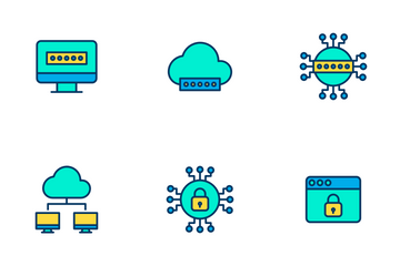 Cyber Security Vol 2 - Lineal Color Icon Pack