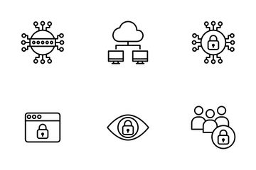 Cyber Security Vol 2  - Outline Icon Pack