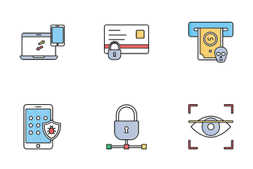 Cybercrime And Hacking Icon Pack