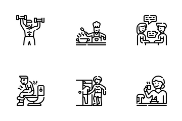 Daily Routine Icon Pack