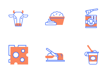 Dairy Products Icon Pack