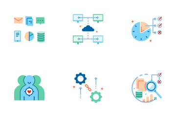 Data Analysis Flat - Big Data Icon Pack