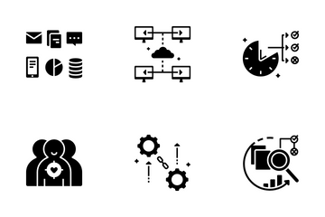 Data Analysis Solid - Big Data Icon Pack