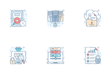 Data Analytics And Big Data Icon Pack