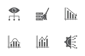 Data Analytics Glyph Icons Icon Pack
