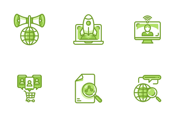 Data Digital Analyst Icon Pack