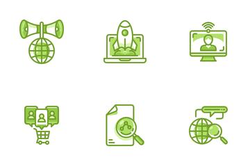 Data Digital Analyst Icon Pack