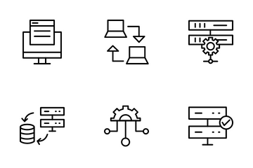 Data Management And Server Icon Pack