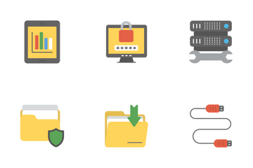 Data Management Flat Icons 1 Icon Pack