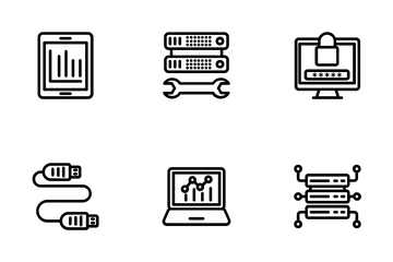 Data Management Line Icons 1 Icon Pack
