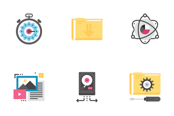 Data Organization And Management Icon Pack