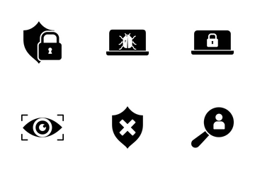 Data Privacy Glyph Icon Pack