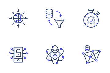 Data Science And Big Data Icon Pack