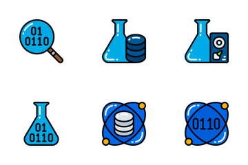 Data Science - Bright Fill Icon Pack