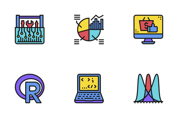Data Science Color Icon Pack