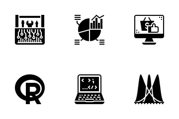 Data Science Glyph Icon Pack