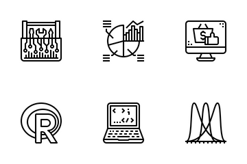 Data  Science Outline Icon Icon Pack