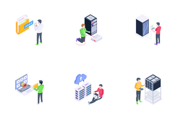 Database And Data Technology Icon Pack