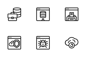 Database And Servers Icon Pack