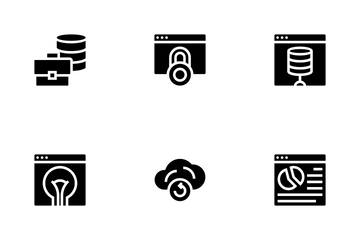 Database And Servers - Solid Version Icon Pack
