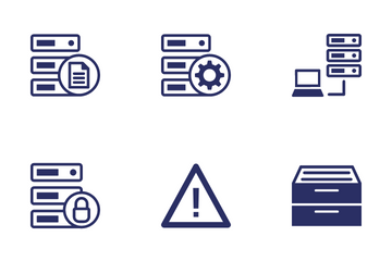 Database, Server And Location Icon Pack