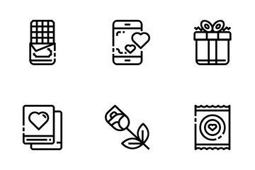 Date And Love Icon Pack
