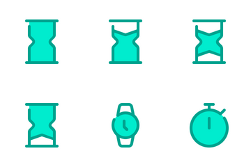 Date And Time Duo Tone Icon Pack