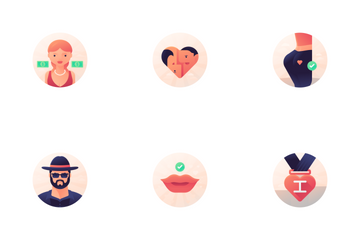 Dating Badge Icon Pack