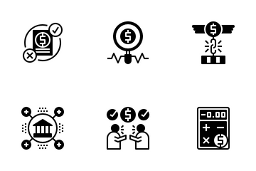 Debt Management Icon Pack