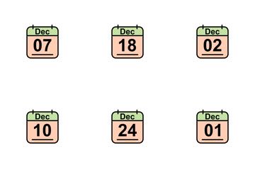 December Calendar 2017 2 - Line Filled Icon Pack