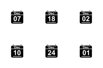 December Calendar 2017 3 - Glyph Icon Pack