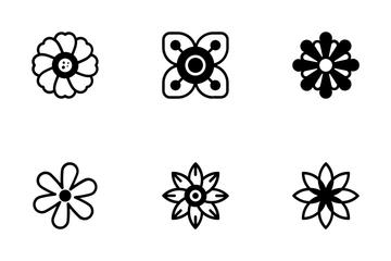 Decorative Flower Symbols Icons 1 Icon Pack