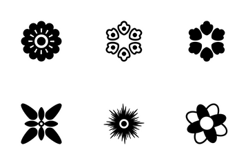 Decorative Flower Symbols Icons 2 Icon Pack