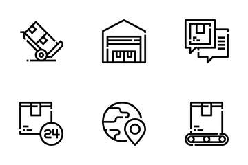 Delivery And Logistics Icon Pack
