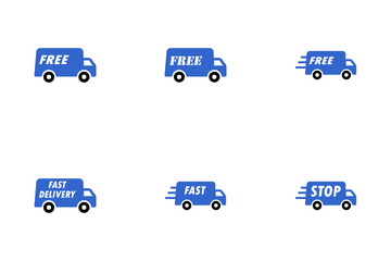 Delivery And Shipping Icon Pack