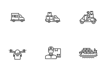Delivery, Logistics, Shipping  Icon Pack