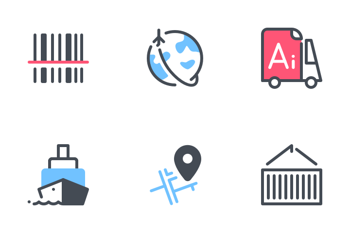 Delivery Pack Icon Pack