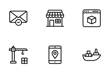 Delivery Services And Logistics Icon Pack