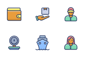 Delivery Services, Shipment And Logistics Icon Pack