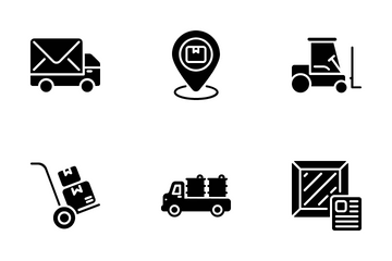 Delivery, Shipping And Logistics Icon Pack