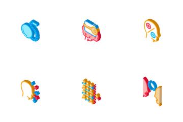 Dementia Brain Disease Icon Pack