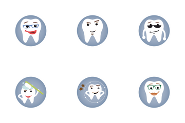 Dental Flat Icon Pack
